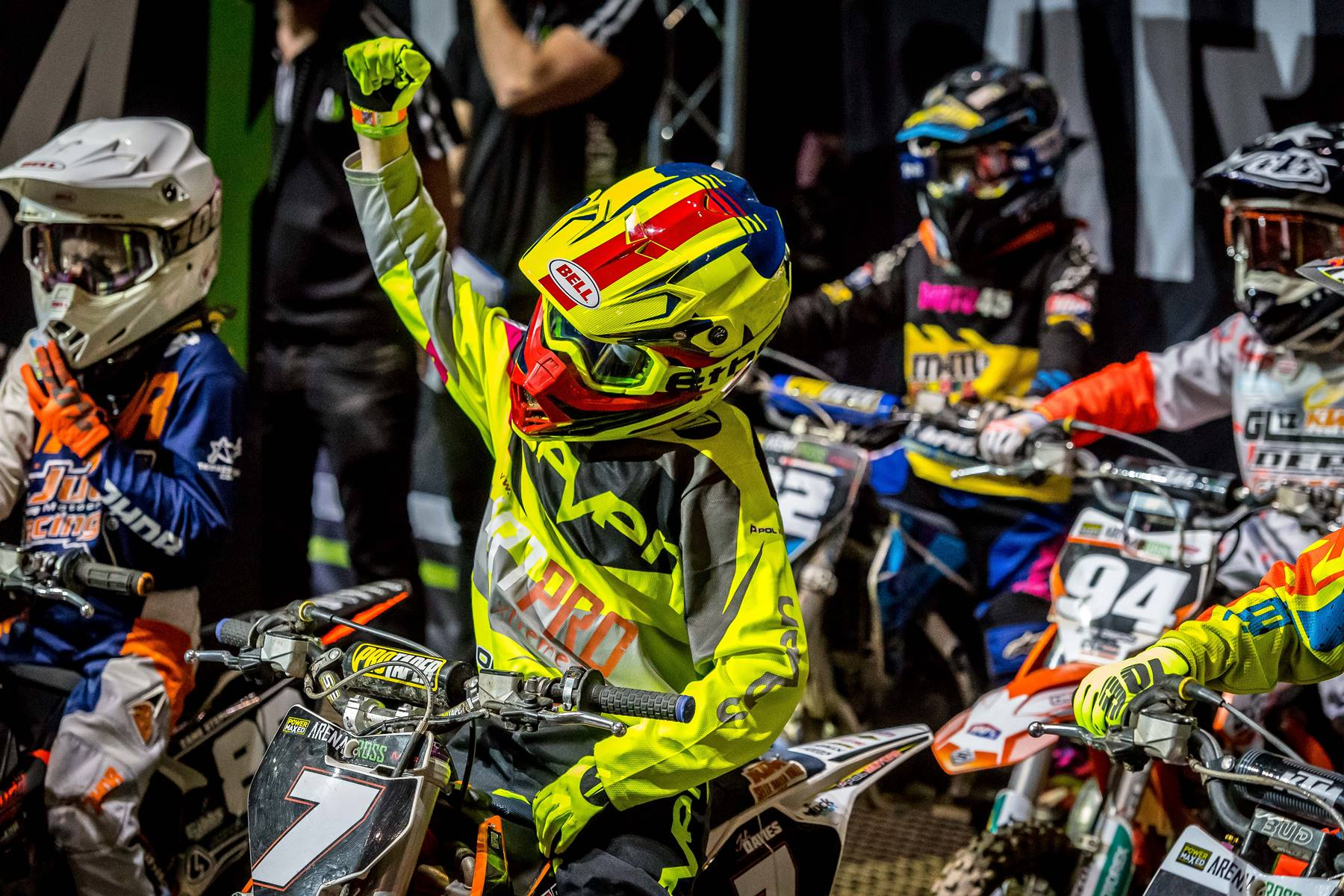 YOUTHS AT THE READY FOR ARENACROSS