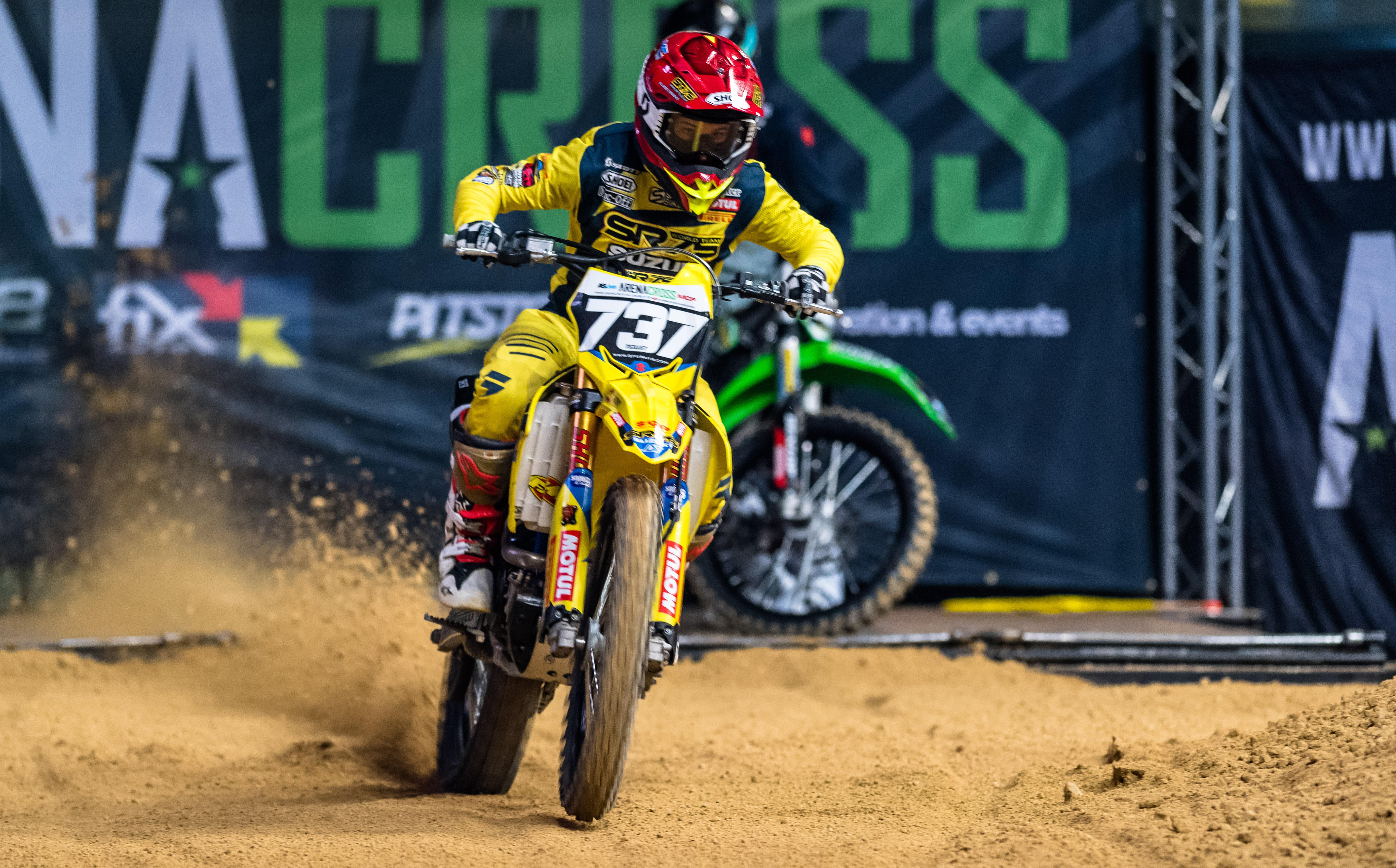 SR75 SUZUKI SHINES IN ARENACROSS ROUND 5 QUALIFYING